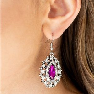 """New! Paparazzi """"Long May She Reign"""" Pink Earrings"""